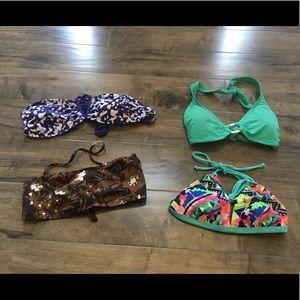Bikini top bundle, size small. Gap, Delia's etc